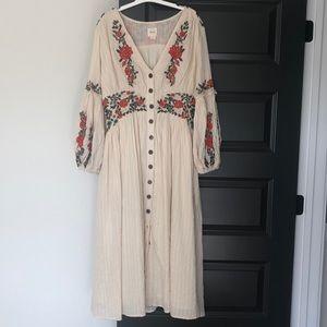 Anthropologie boho dress- size 12
